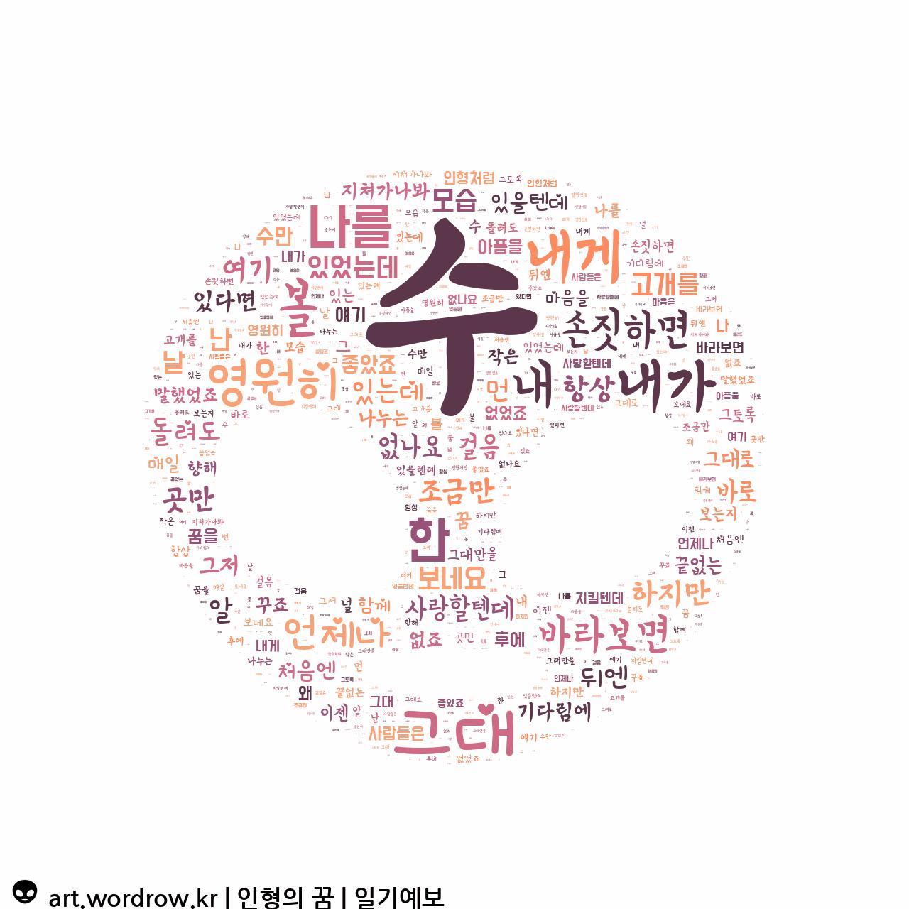 워드 아트: 인형의 꿈 [일기예보]-41